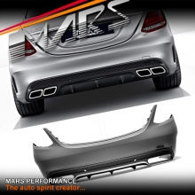 AMG C63 Style Rear Bumper bar for Mercedes-Benz W205 Sedan & C43