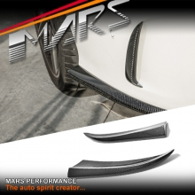 Real Carbon Fibre Rear bumper Side Splitter Lip Spoiler for Mercedes Benz C205 S205 W205 AMG Package & C63 & C43