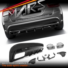 AMG GLA45 Style Rear Bumper bar Diffuser with Exhaust Tips for Mercedes-Benz GLA Class X156