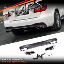 AMG GLS63 Style Rear Bumper bar Diffuser with Exhaust Tips for Mercedes-Benz GLS Class X166