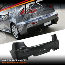Evolution X Style Rear Bumper Bar for Mitsubishi CJ lancer Sedan 07-16 With Twin Exhaust