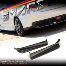 STi Style Carbon Fibre Print Rear Bumper bar Splitters lip Spoiler for SUBARU WRX & STi 14-17