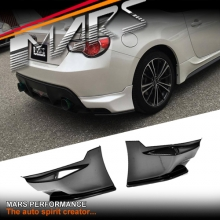 TRD Style Plastic Rear Bumper Bar Splitter Lip for TOYOTA 86 GT GTS & SUBARU BRZ 12-16