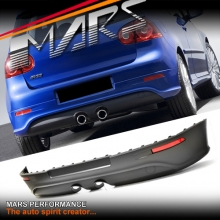 R32 Style Rear Bumper Bar Lip with Twin Exhaust outlet for VolksWagen VW Golf V 03-08.