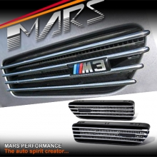 Chrome Black FENDER AIR VENT for BMW E46 M3 Coupe & Convertible