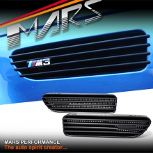 Matt Black Side Guard Fender Air Vents for BMW E46 M3 Coupe & Convertible