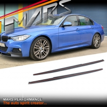 M Tech Sports Style Side Skirt Lip Spoiler for BMW 3-Series F30 Sedan, F31 Wagon & F80 M3