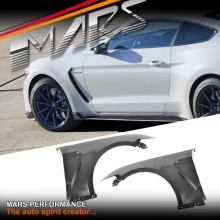 Shelby GT350-R Style Metal Fender Guard with Plastic Vents for Ford Mustang FM 2015-2017