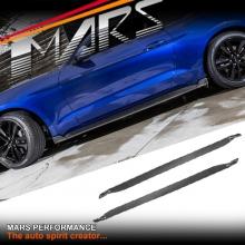 MARS Carbon Fibre Side Skirts Lip Spoiler Cover for Ford Mustang FM 2015-2017