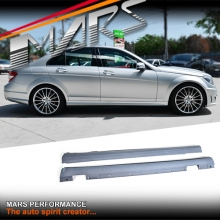 AMG C63 Style Side Skirts for Mercedes-Benz C-Class W204 4 doors Sedan 07-14