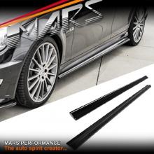 MARS Carbon Fibre Side Skirts lip Spoiler for Mercedes Benz W204 C204 C63 AMG
