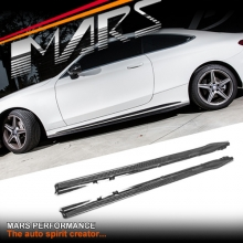 MARS Carbon Fibre Side Skirts Lip Spoiler for Mercedes-Benz C-Class C205 S205 W205 (include AMG C63 C43)