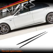 Real Carbon Side Skirts Lip Spoiler Covers for Mercedes Benz C205 S205 W205 include AMG C63 C43