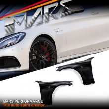 C63-S AMG Style Metal Fender Guard for Mercedes-Benz C-Class W205 S205 C205 A205