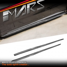 PSM Style Carbon Side Skirts Lip Spoiler for Mercedes Benz C205 S205 W205 include AMG C63 C43