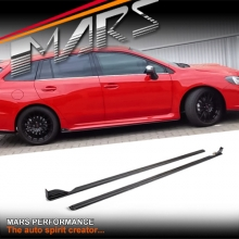 STi Sports Style Carbon Fibre Print Side Skirts lip Spoiler for SUBARU LEVORG 2016+