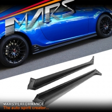 STi S Pack Style Carbon Fibre Print Side Skirts Lip Spoiler for TOYOTA 86 GT GTS & Subaru BRZ