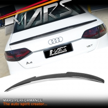 MARS Performance Carbon Fibre Rear Trunk Lip Spoiler for AUDI A4 S4 B8 4 Doors Sedan 09-11
