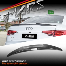 MARS Performance Carbon Fibre Rear Trunk Lip Spoiler for AUDI A4 S4 B9 4 Doors Sedan 16+