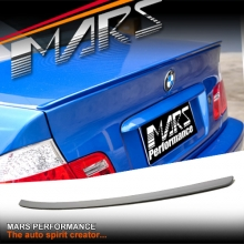 M3 Style ABS Plastic Rear Trunk Boot Lip Spoiler wing for BMW E46 4 Doors Sedan