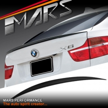 M Performance Style ABS Plastic (Gloss Black) Rear Trunk Lip Spoiler for BMW E71 X6