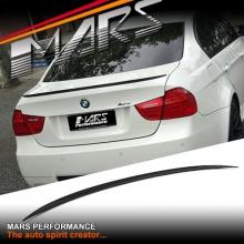 M3 Style ABS Plastic (Gloss Black) Rear Trunk Lip Spoiler for BMW E90 Sedan 05-11