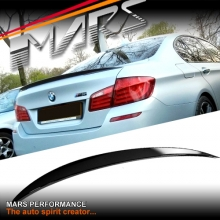 M Performance Style ABS Plastic (Gloss Black) Rear Trunk Lip Spoiler for BMW 5-Series F10 Sedan inlcude M5