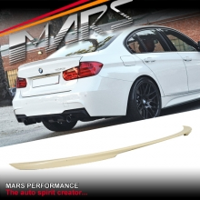 M Performance Style ABS Plastic (Unpainted) Rear Trunk Lip Spoiler for BMW F30 Sedan