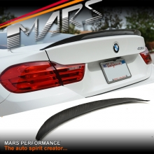 Carbon Fibre M Performance Style Rear Trunk Lip Spoiler for BMW 4-Series F32 Coupe