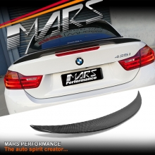 Carbon Fibre M Performance Style Rear Trunk Lip Spoiler for BMW 4-Series F33 Convertible & F83 M4
