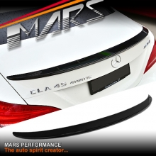 CLA45 AMG Style ABS Plastic (Gloss Black) Rear Trunk Lip Spoiler for Mercedes Benz CLA-Class C117 W117