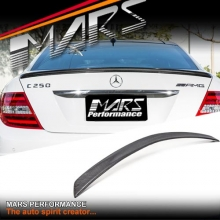 Carbon Fiber AMG Style Rear Trunk Spoiler for Mercedes W204 C204 C-Class Coupe