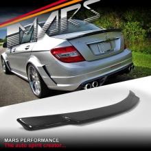 AMG Renntech C74 Style Carbon Fibre Rear Trunk Lip Spoiler for Mercedes Benz W204 Sedan