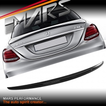 AMG Style ABS Plastic (Gloss Black) Rear Trunk Lip Spoiler for Mercedes Benz W205 Sedan