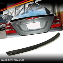 AMG CLK63 Style Rear Carbon Fiber Trunk Lip Spoiler for Mercedes-Benz CLK W209 C209 Coupe