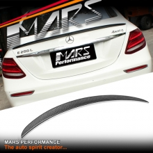 E63-S AMG Style Carbon Fibre Rear Trunk Lip Spoiler for Mecedes Benz W213 Sedan
