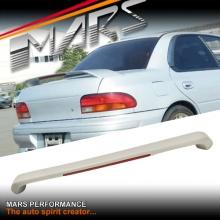 ABS Plastic Spoiler with LED Brake light for SUBARU GC8 Impreza Sedan 94-00