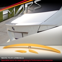 C63 AMG Brabus Style ABS Plastic Rear Trunk Lip Spoiler for Mercedes Benz W204 Sedan