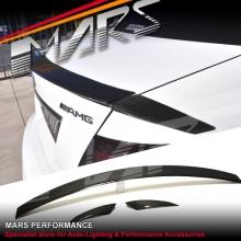 C63 AMG Brabus Style Carbon Fibre Rear Trunk Lip Spoiler for Mecedes Benz W204 Sedan