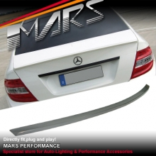 AMG C63 Style Rear ABS (Unpainted) Trunk Lip Spoiler for Mercedes-Benz C-Class W204 Sedan