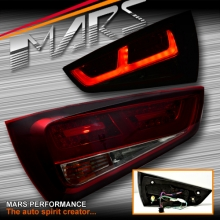 Smoked Red upgrade 3D LED Stripe Bar Tail Lights for AUDI A1 8X 2010-2014 Hatch