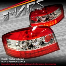 Clear Red LED Tail Lights for AUDI A3 8P 3D 5D HatchBack 03-05 SN