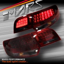 Smoked Red LED Tail Lights for AUDI A3 8P HatchBack 05-08