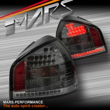 Smoked LED Tail Lights for AUDI A3 S3 3D 5D HatchBack 95-03 KS