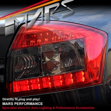 Smoked Red LED Tail Lights for AUDI A4 S4 RS4 B6 01-05 Sedan KS