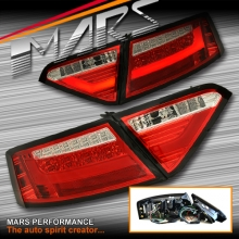 Clear Red 3D LED Stripe Tail Lights for AUDI A5 S5 RS5 8T Pre Update Models (Replace Stock Non-LED Lights)