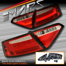 Clear Red 3D LED Stripe Tail Lights for AUDI A5 8T 09-12 Pre Update Models (Replace Stock LED Lights)