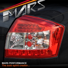 Clear Red LED Tail Lights for AUDI A4 S4 RS4 B6 01-05 Sedan KS