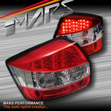 Clear Red LED Tail Lights for AUDI A4 B6 S6 RS6 01-05 Sedan