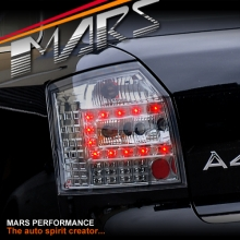 Smoked Black LED Tail Lights for AUDI A4 S4 B6 AVANT Sports Station Wagon